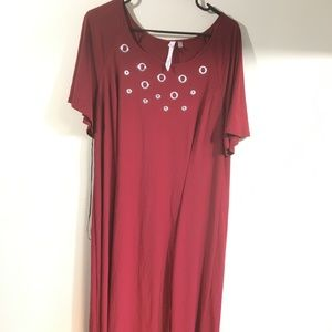 Women's NY Collection Short Sleeve Dress 1X $70